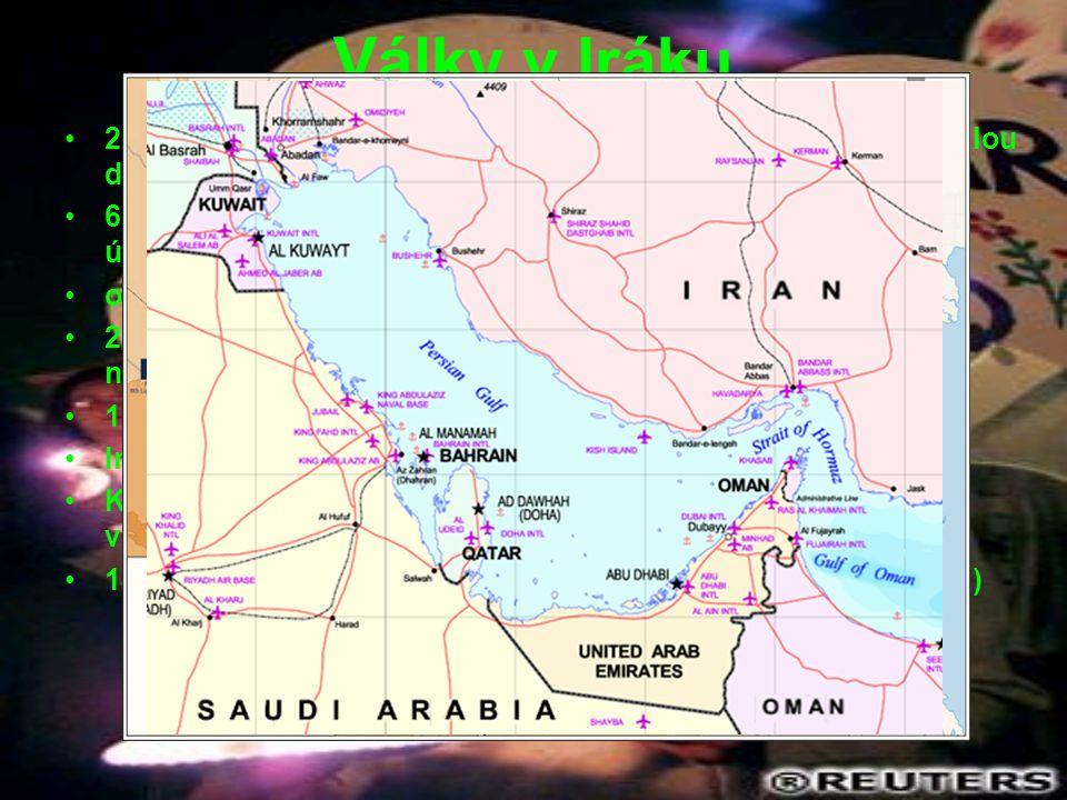 Války v Iráku 2. srpna 1990 – Irácké elitní jednotky vtrhly s obrovskou přesilou do Kuvajtu.