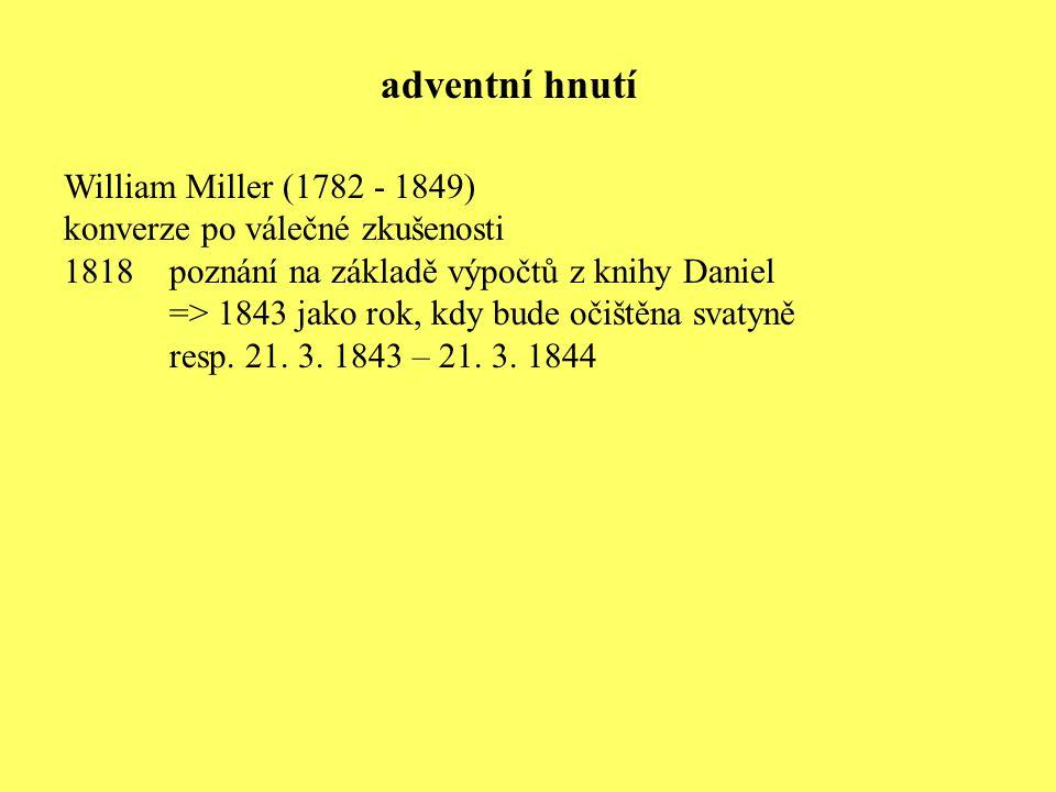 adventní hnutí William Miller (1782 - 1849)
