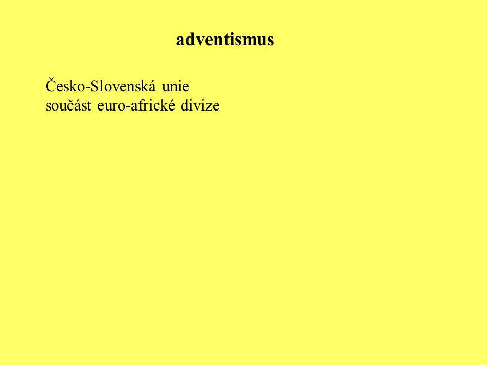adventismus Česko-Slovenská unie součást euro-africké divize