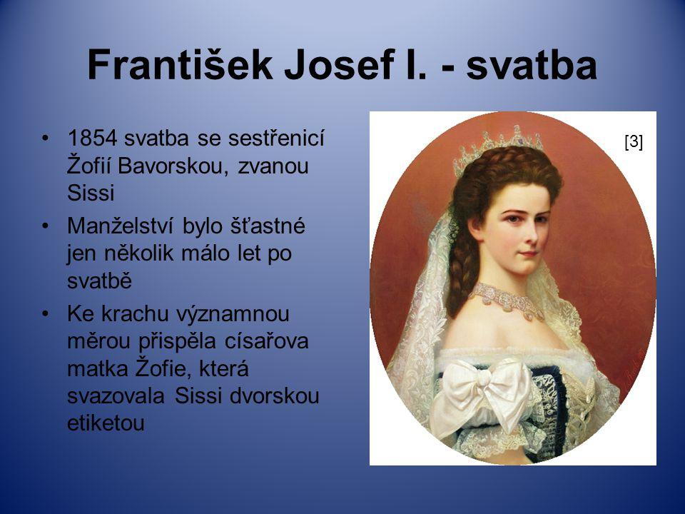 František Josef I. - svatba