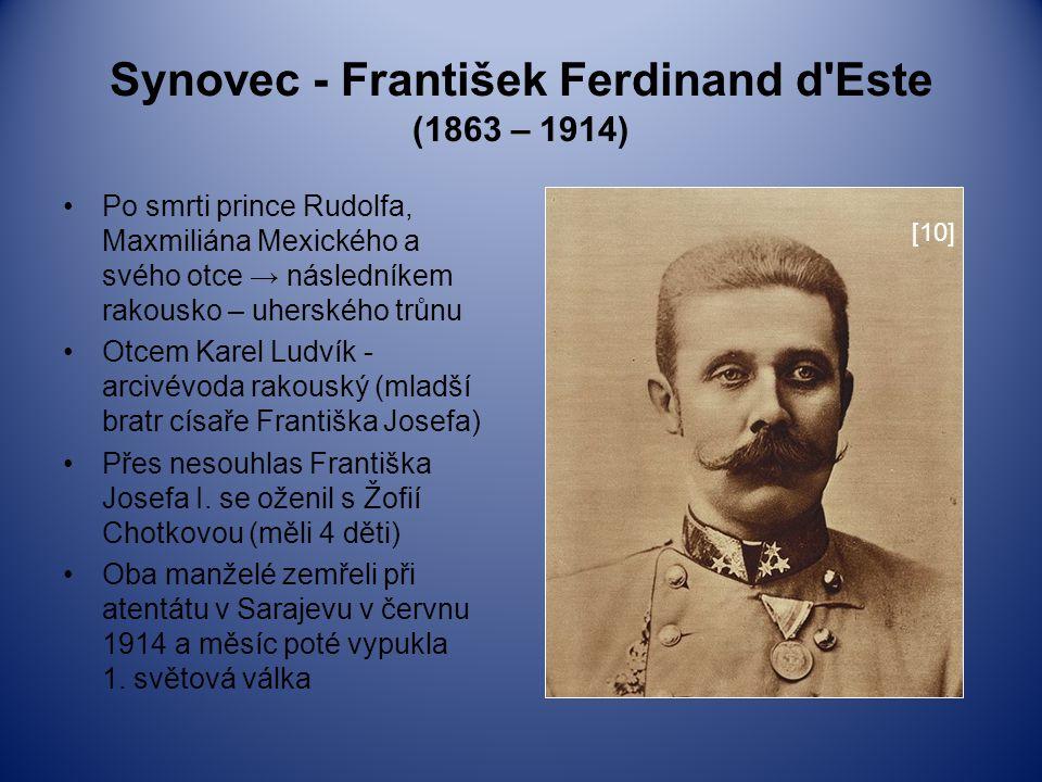 Synovec - František Ferdinand d Este (1863 – 1914)
