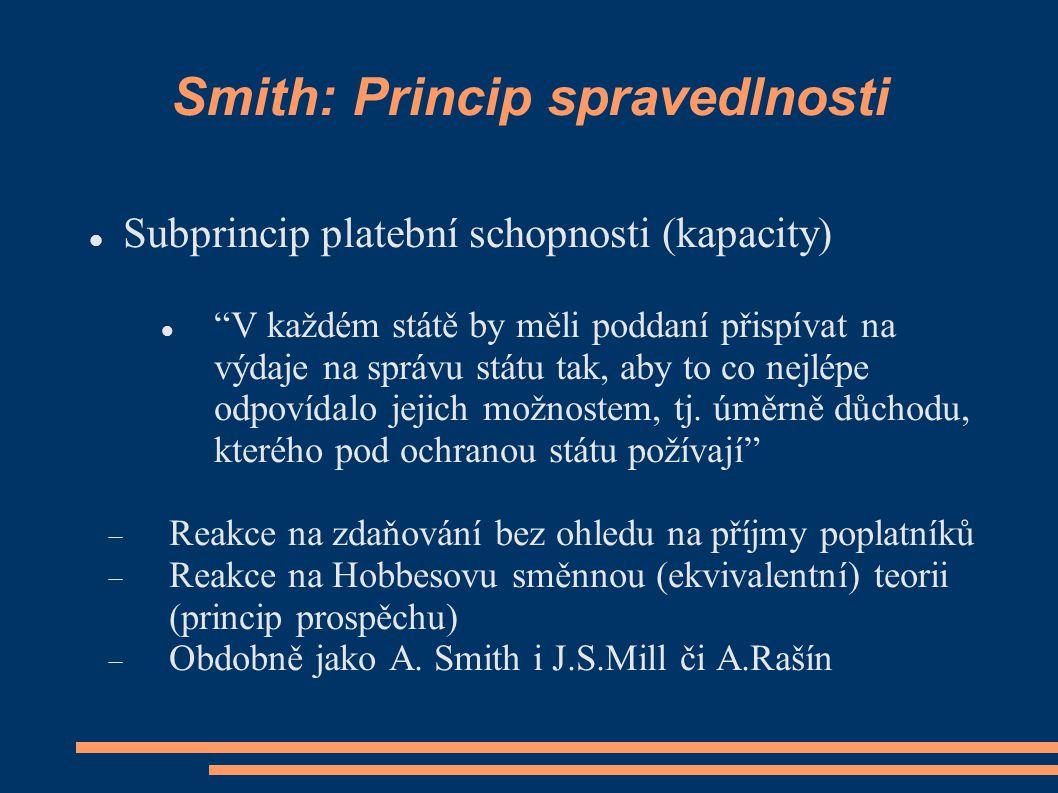 Smith: Princip spravedlnosti