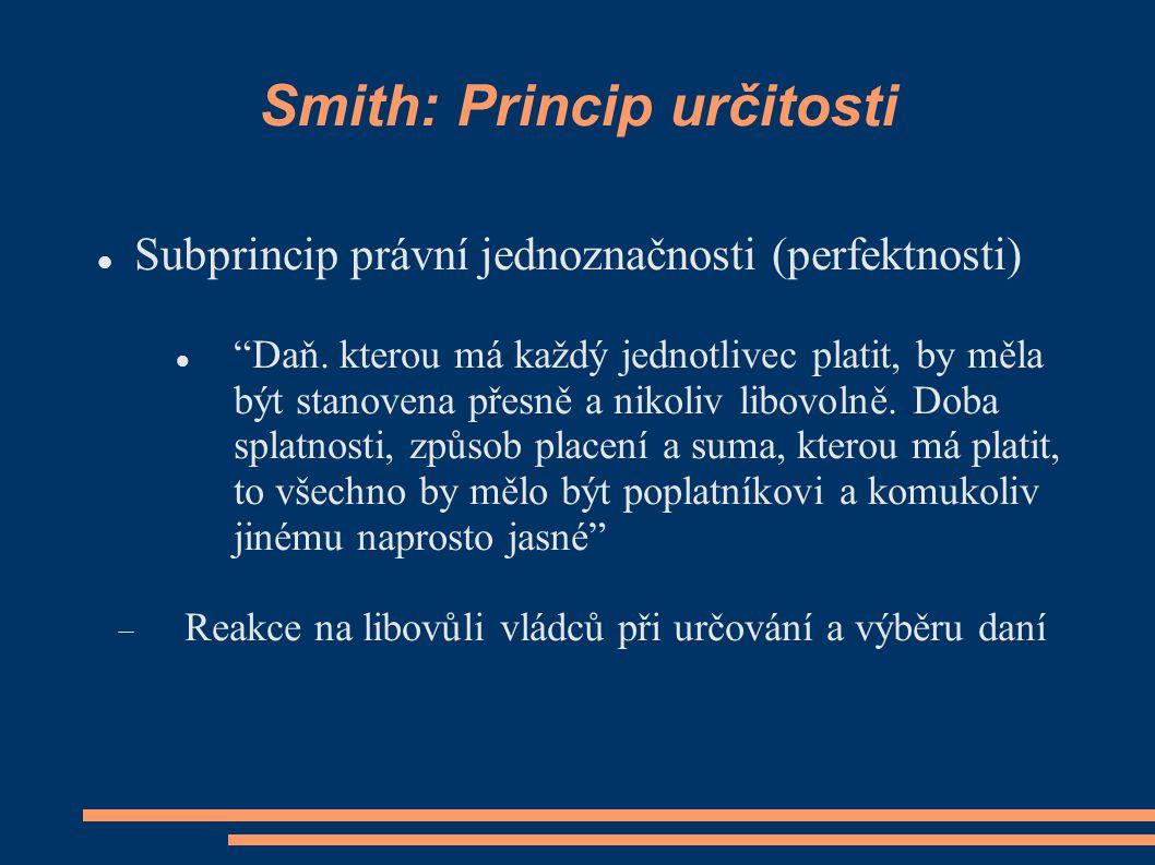 Smith: Princip určitosti