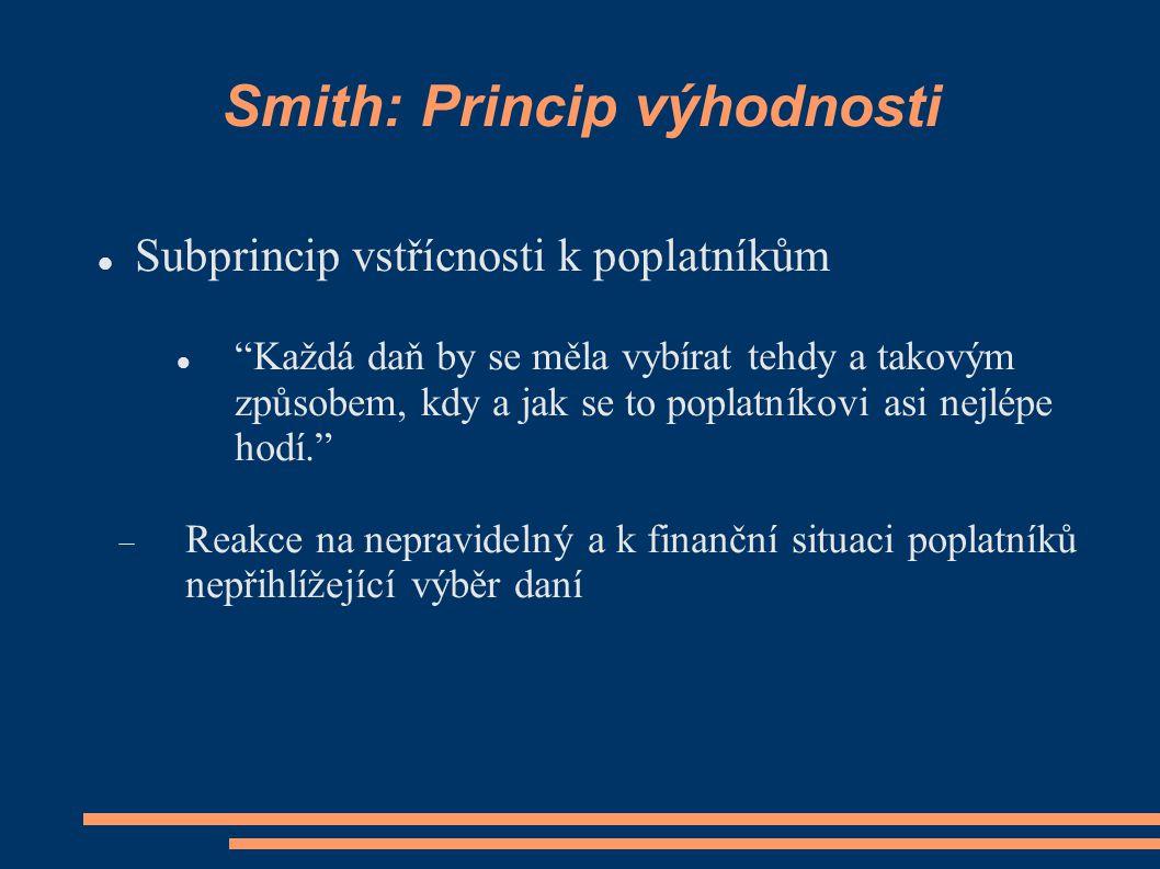 Smith: Princip výhodnosti