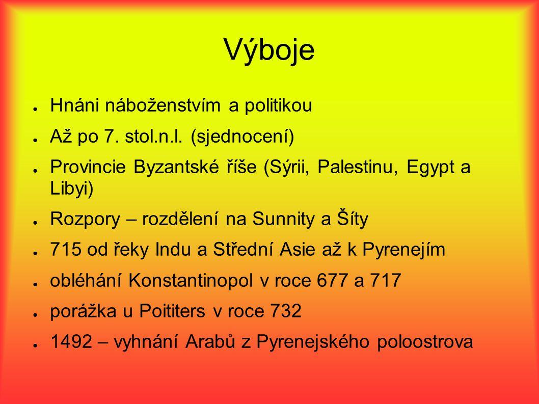 Výboje Hnáni náboženstvím a politikou Až po 7. stol.n.l. (sjednocení)