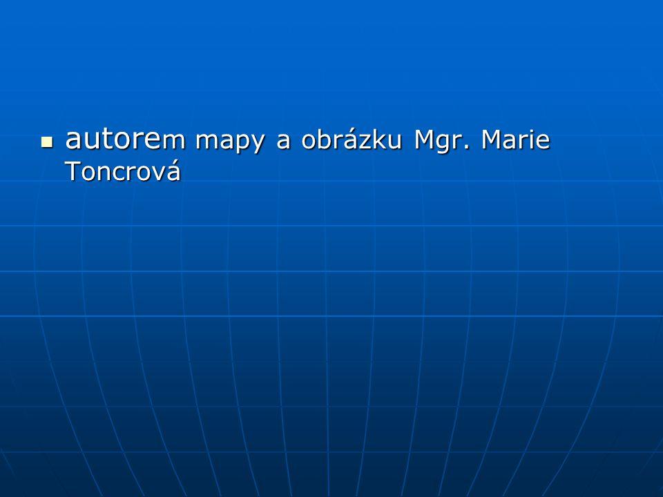 autorem mapy a obrázku Mgr. Marie Toncrová
