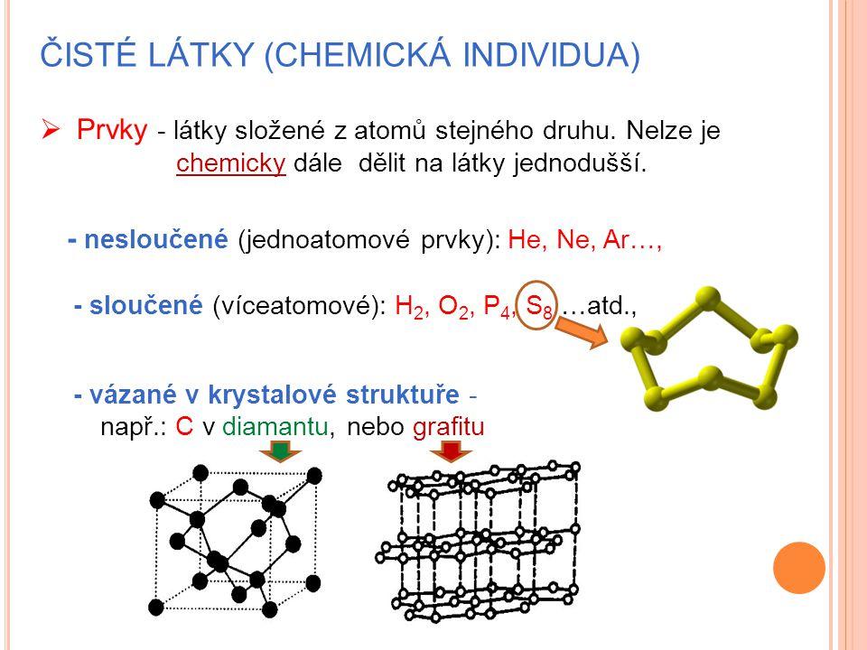 Čisté látky (chemická individua)