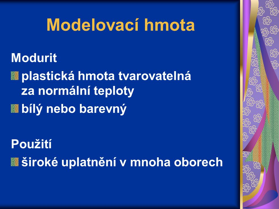 Modelovací hmota Modurit