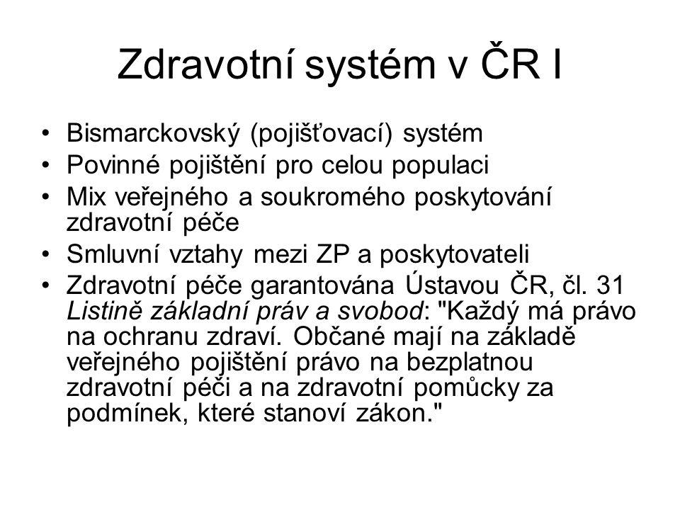 Zdravotní systém v ČR I Bismarckovský (pojišťovací) systém