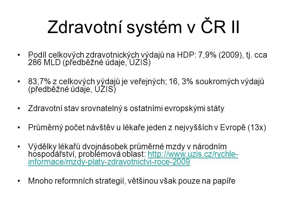 Zdravotní systém v ČR II