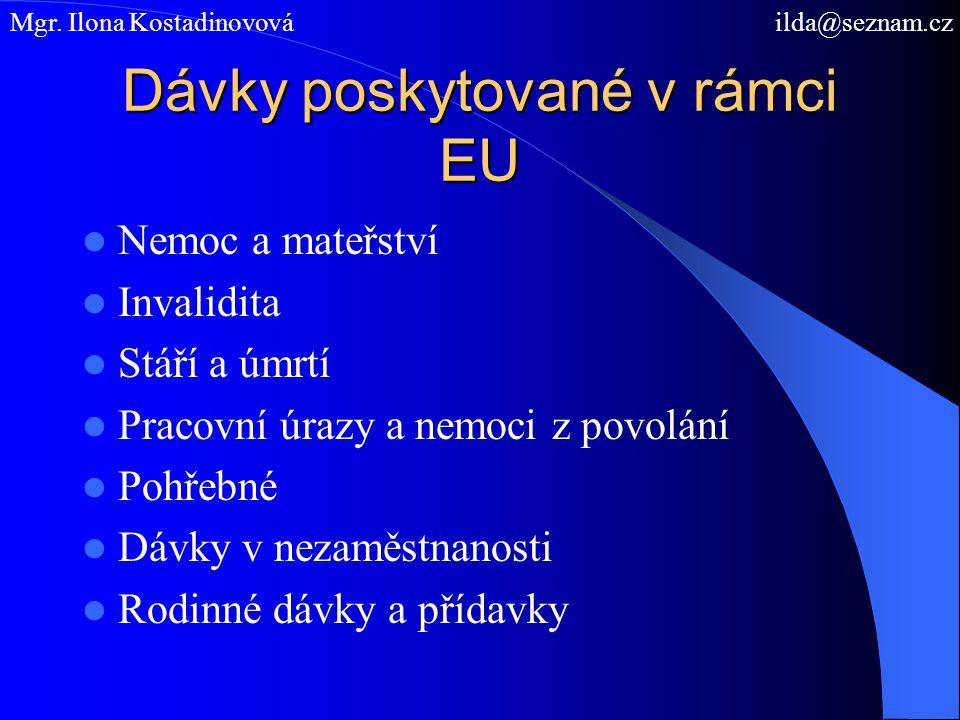 Dávky poskytované v rámci EU