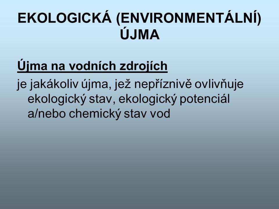 EKOLOGICKÁ (ENVIRONMENTÁLNÍ) ÚJMA