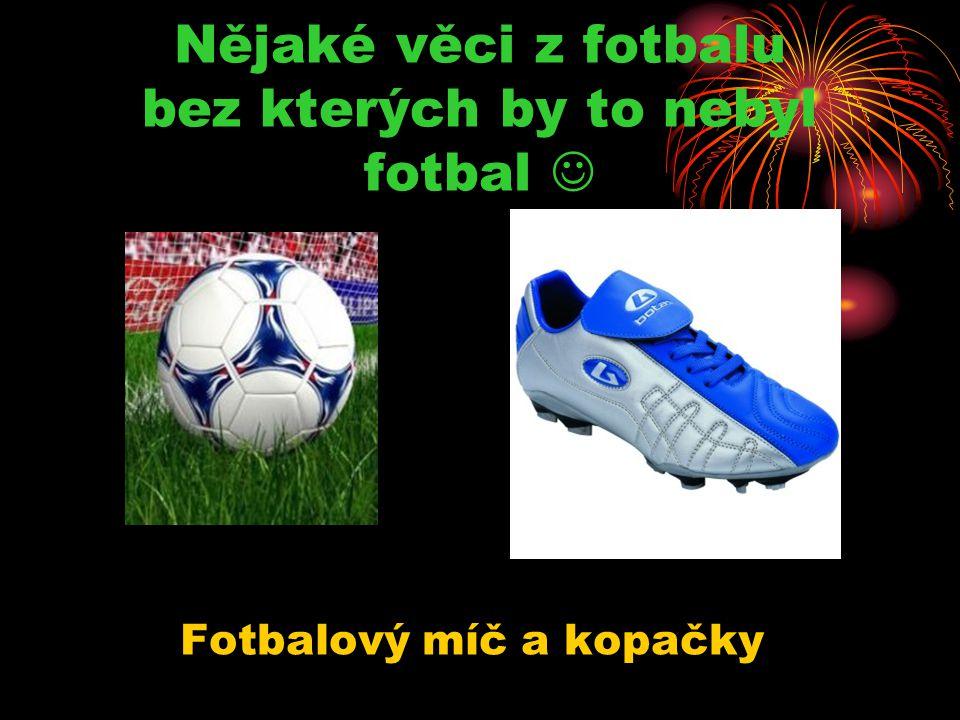 Nějaké věci z fotbalu bez kterých by to nebyl fotbal 