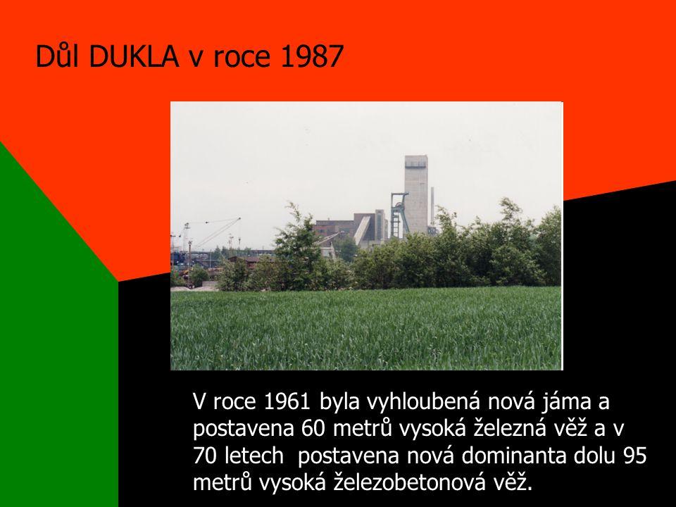 Důl DUKLA v roce 1987