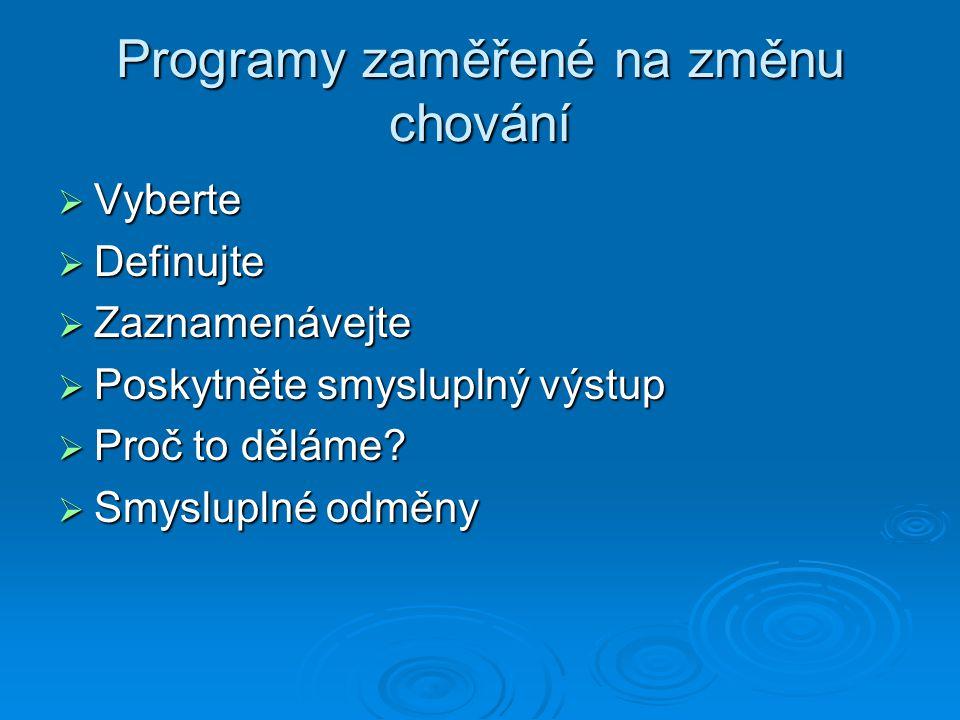 Programy zaměřené na změnu chování