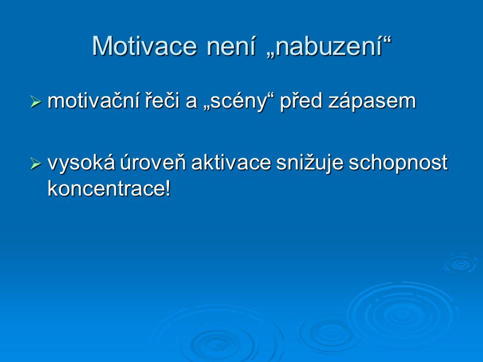 """Motivace není """"nabuzení"""