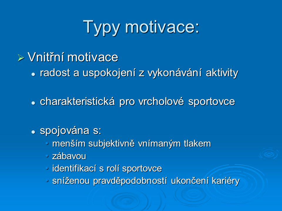 Typy motivace: Vnitřní motivace