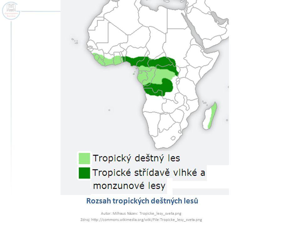 Rozsah tropických deštných lesů
