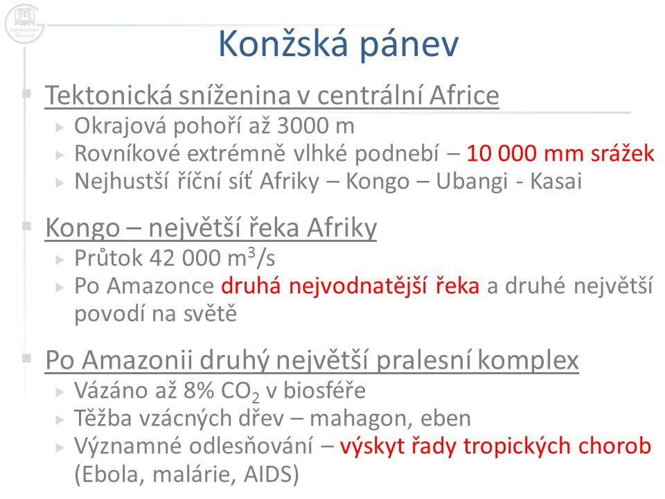 Konžská pánev Tektonická sníženina v centrální Africe