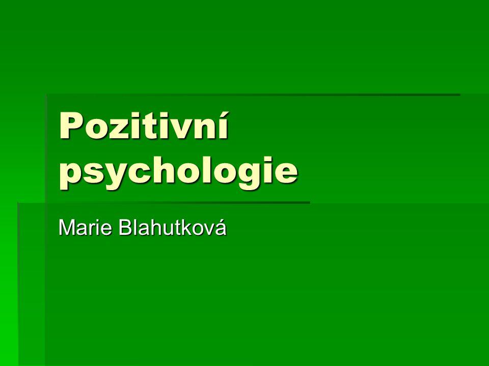 Pozitivní psychologie