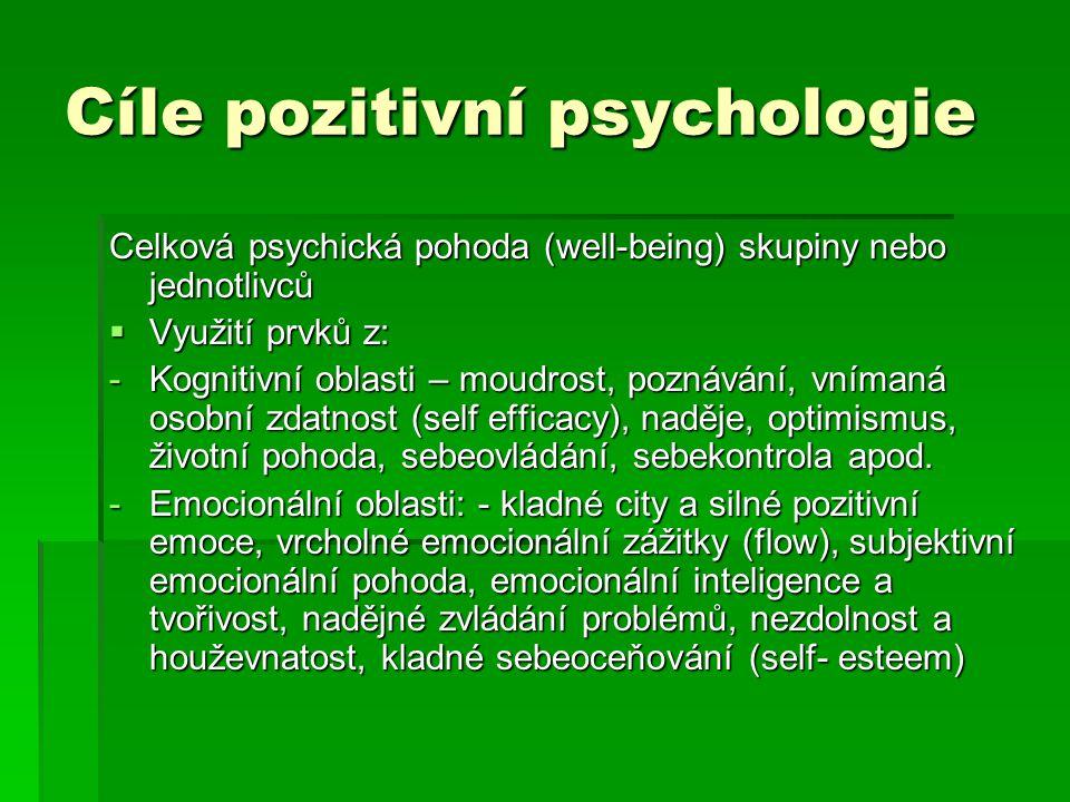 Cíle pozitivní psychologie