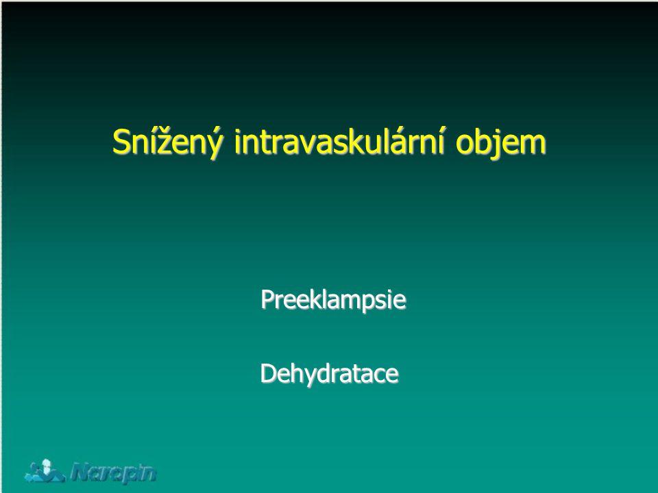 Snížený intravaskulární objem