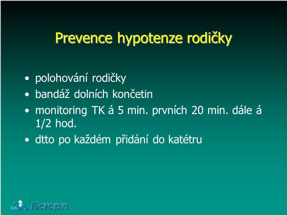 Prevence hypotenze rodičky