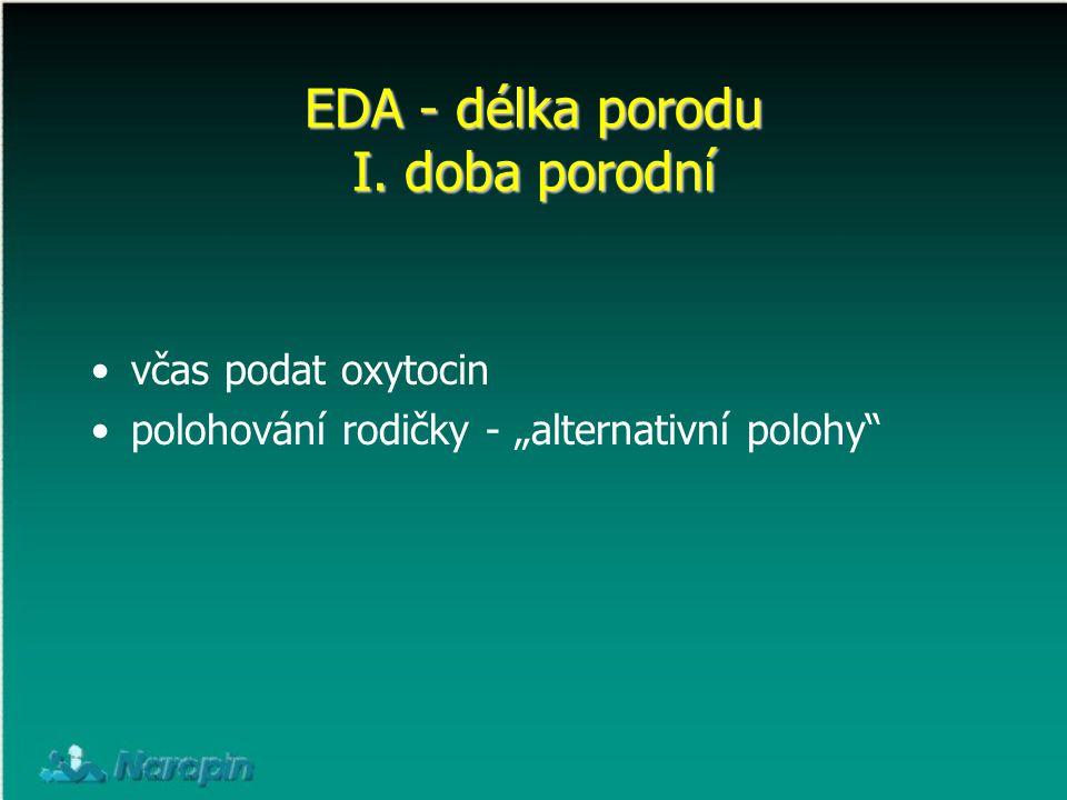 EDA - délka porodu I. doba porodní
