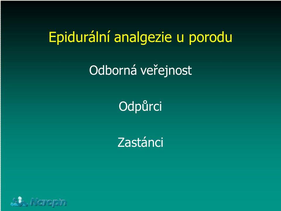 Epidurální analgezie u porodu