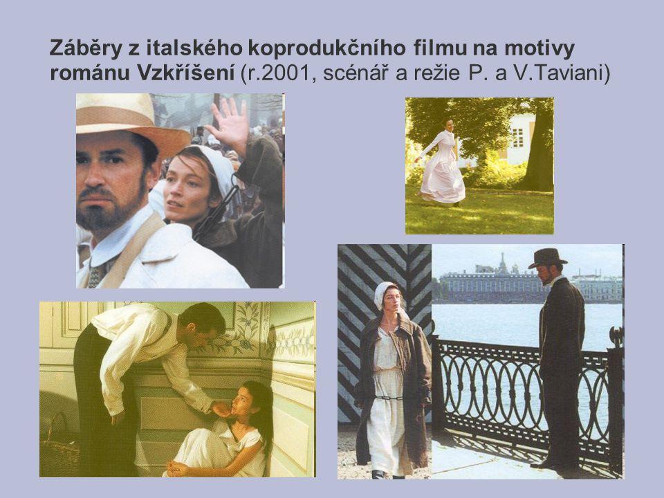 Záběry z italského koprodukčního filmu na motivy románu Vzkříšení (r