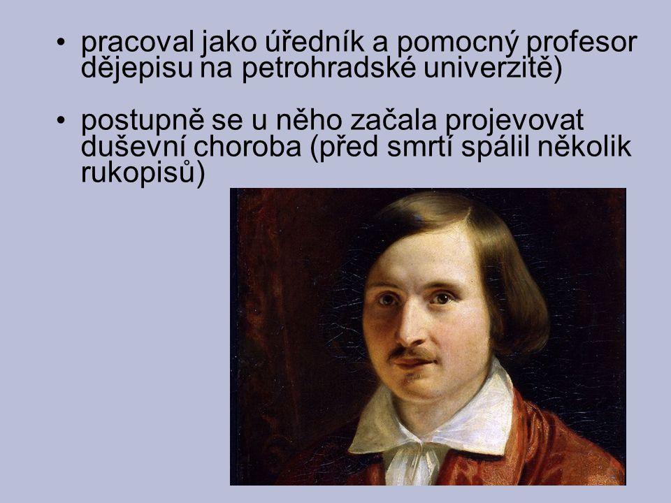 pracoval jako úředník a pomocný profesor dějepisu na petrohradské univerzitě)