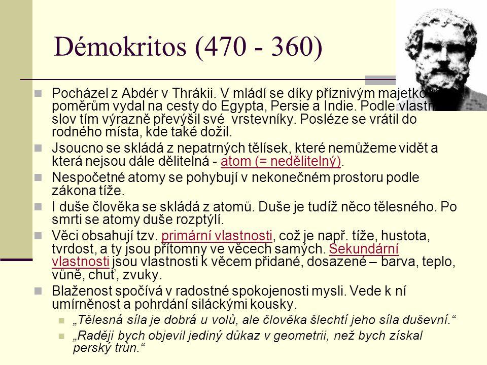 Démokritos (470 - 360)