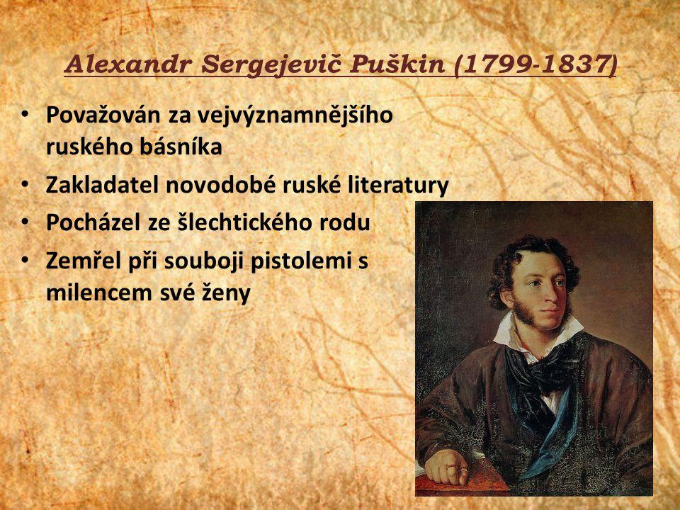 Alexandr Sergejevič Puškin (1799-1837)