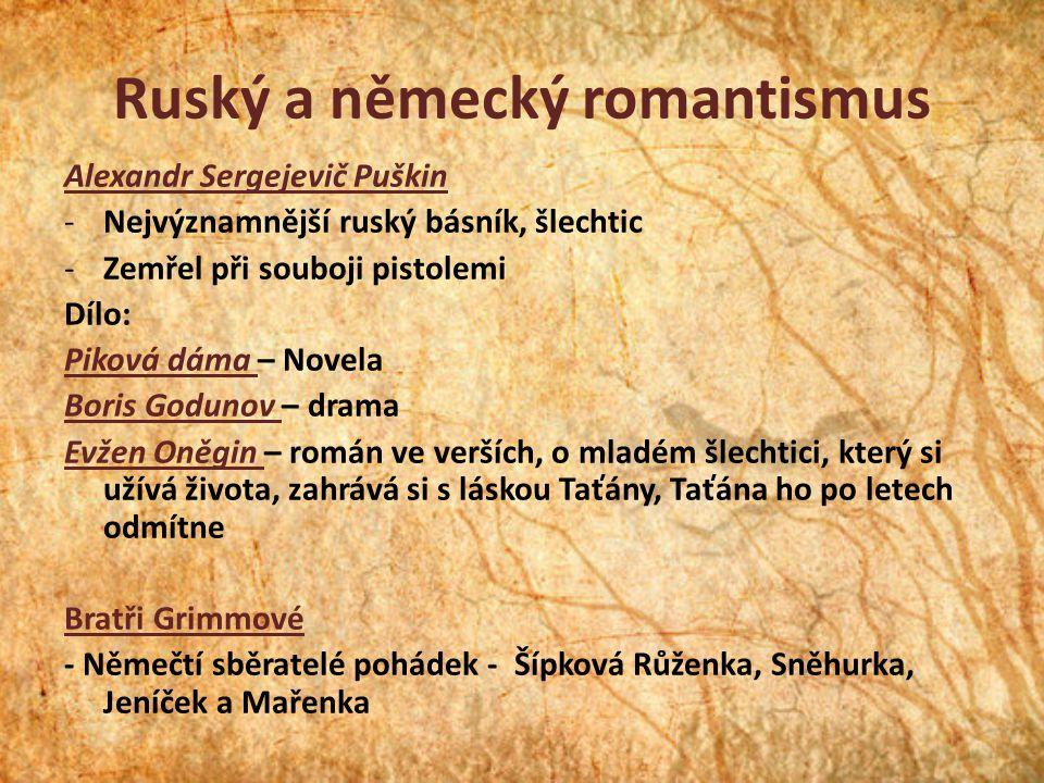 Ruský a německý romantismus