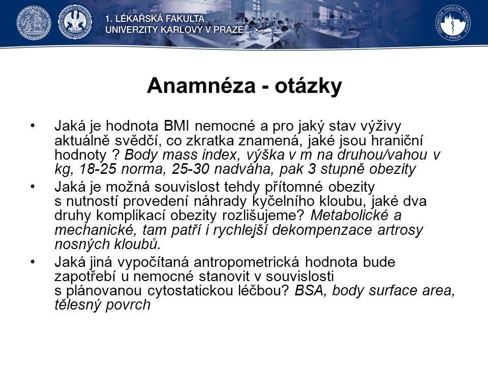 Anamnéza - otázky