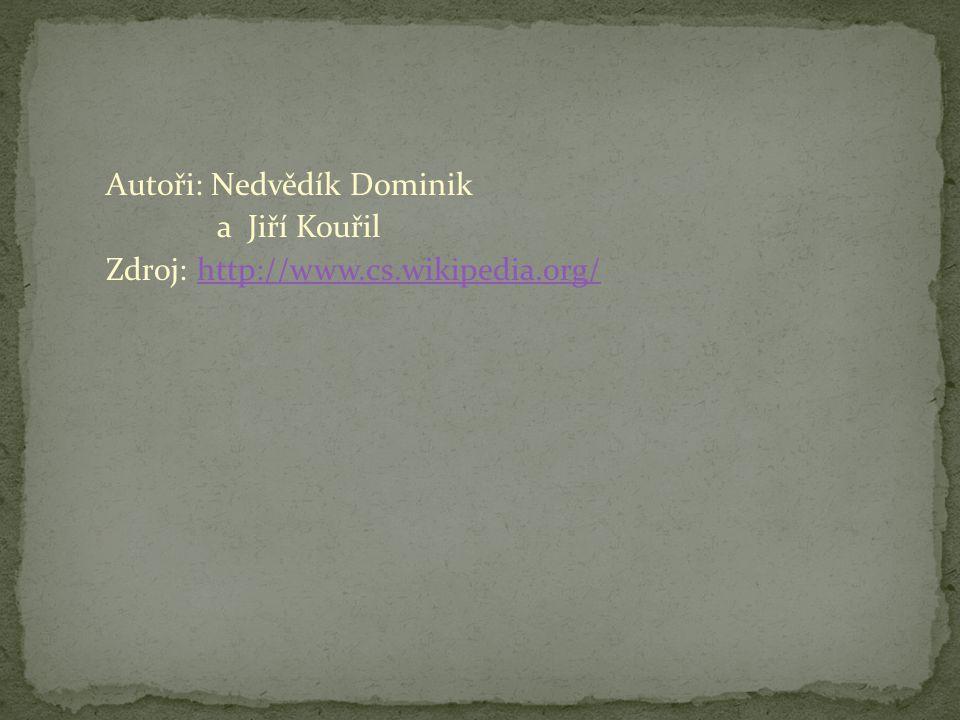 Autoři: Nedvědík Dominik a Jiří Kouřil Zdroj: http://www.cs.wikipedia.org/