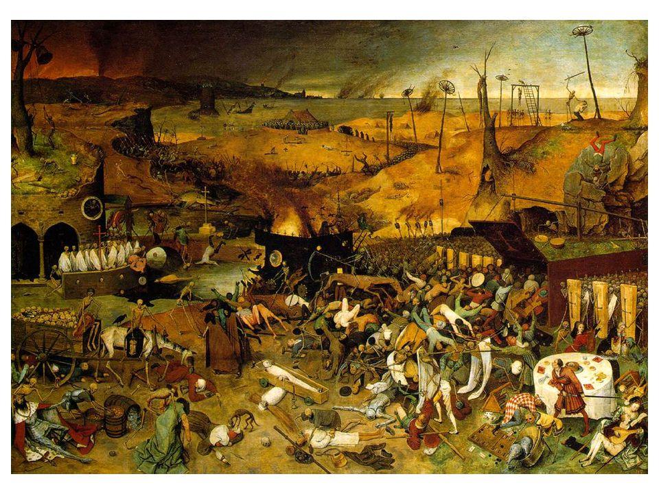 Triumf smrti Navazuje na středověkou tradici apokalyptických jezdců (Durer) Člověk pozastaven tváří v tvář smrti.