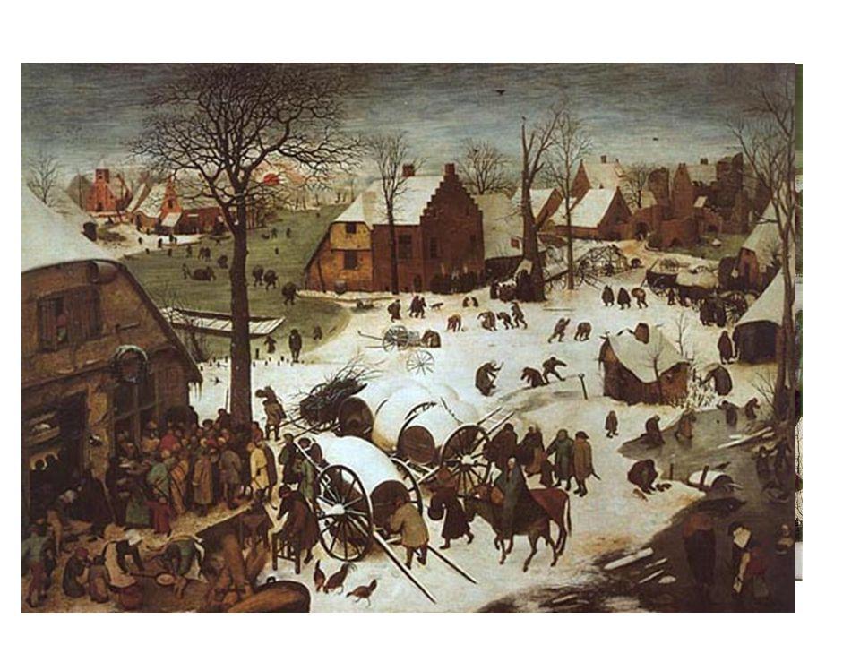 Lovci na sněhu Sčítání lidu v betlémě