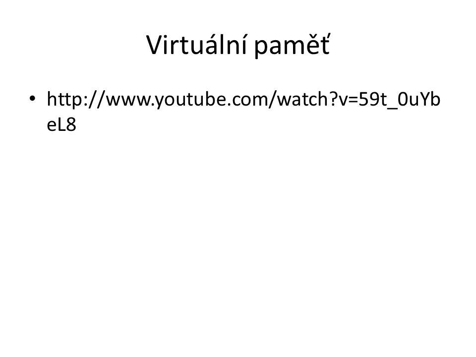 Virtuální paměť http://www.youtube.com/watch v=59t_0uYbeL8