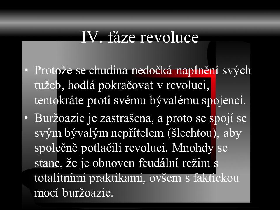 IV. fáze revoluce Protože se chudina nedočká naplnění svých tužeb, hodlá pokračovat v revoluci, tentokráte proti svému bývalému spojenci.
