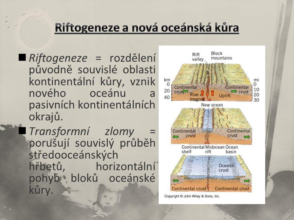 Riftogeneze a nová oceánská kůra