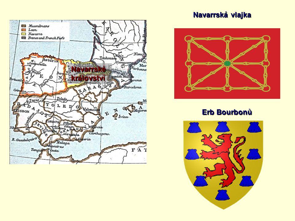 Navarrská vlajka Navarrské království Erb Bourbonů