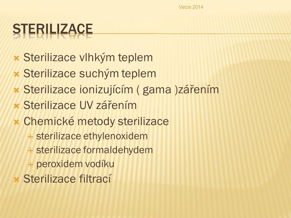 Sterilizace Sterilizace vlhkým teplem Sterilizace suchým teplem