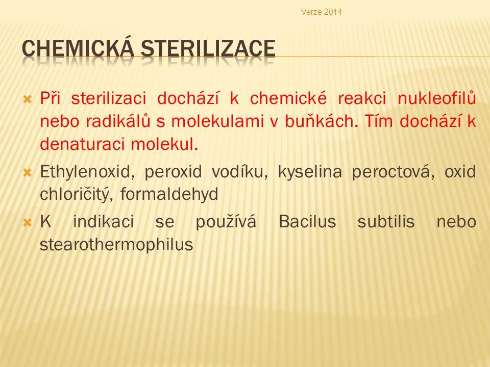 Verze 2014 Chemická sterilizace.