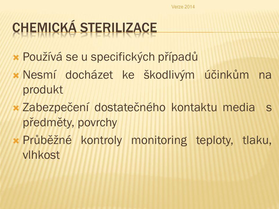 Chemická sterilizace Používá se u specifických případů