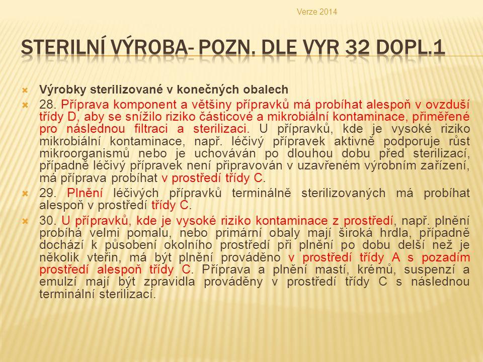 Sterilní Výroba- pozn. Dle Vyr 32 dopl.1