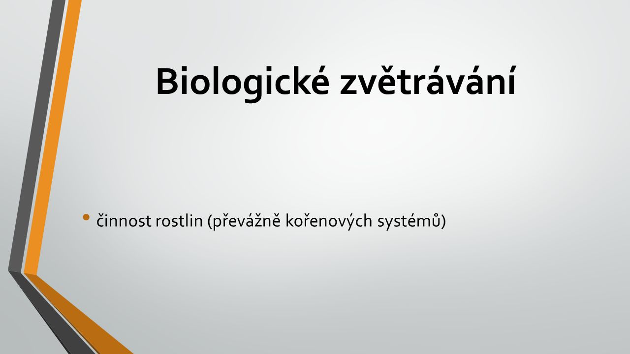 Biologické zvětrávání