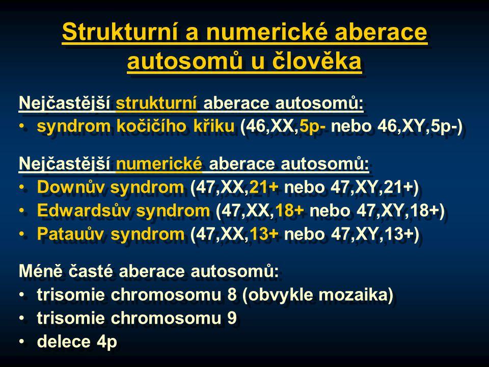 Strukturní a numerické aberace autosomů u člověka