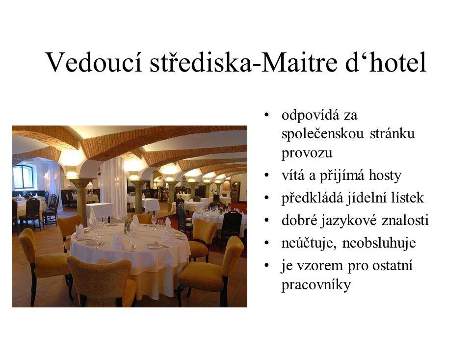 Vedoucí střediska-Maitre d'hotel