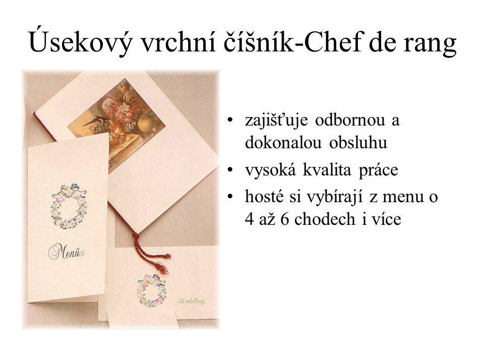 Úsekový vrchní číšník-Chef de rang